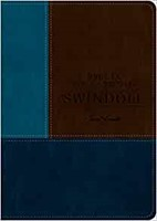 Biblia de estudio Swindoll NTV, SentiPiel, Café/Azul/Turques (Imitation Leather)