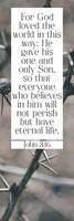 For God So Loved Bookmark (pack of 25) (Bookmark)