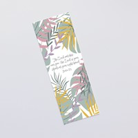 The Lord Watches Over You (Jungle Pink) Bookmark