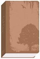 GW God Guy Bible Vintage Brown, Grunge Tree Design Duravella (Leather Binding)