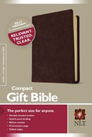 NLT Compact Gift Bible Bonded Leather Burgundy