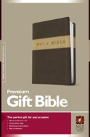 NLT Premium Gift Bible, Dark Brown/Tan