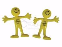 Smile God Loves You Bendable Man - Pack of 24