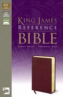 KJV Reference Bible, Giant Print, Burgundy