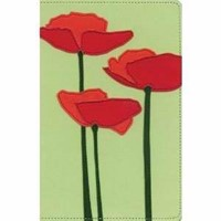 KJV Thinline Bloom Collection Bible, Compact, Green/Red