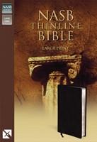 NASB Thinline Bible, Large Print (Bonded Leather)