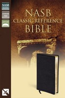 NASB Classic Reference Bible, Black, Red Letter Ed. (Bonded Leather)