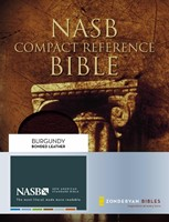NASB Compact Reference Bible, Burgundy, Red Letter Ed.