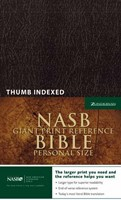 NASB Personal Size Reference Bible, Giant Print, Indexed (Imitation Leather)