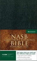 NASB Personal Size Reference Bible, Black, Giant Print