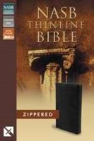 NASB Thinline Zippered Collection Bible, Black
