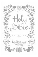 NIV Tiny White Christening Bible (Hard Cover)