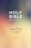 NIV Large Print Single Column Deluxe Reference Bible (Hard Cover)