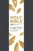 NIV Large Print Single Column Deluxe Reference Bible (Flexiback)