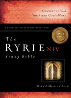 NIV Ryrie Study Bible Bonded Leather Navy Red Letter Ind, Th (Leather Binding)