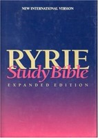NIV Ryrie Study Bible Hardback- Red Letter (Hard Cover)