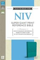 NIV Super Giant Print Reference Bible Turquoise Imitation Le (Flexiback)