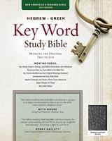 NASB Hebrew-Greek Key Word Study Bible BL Black Indexed (Leather Binding)