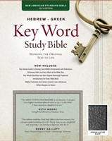 NASB Hebrew-Greek Key Word Study Bible GL Black Indexed (Leather Binding)