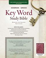 NASB Hebrew-Greek Key Word Study Bible BL Burgundy Indexed (Leather Binding)