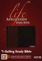 NIV Life Application Study Bible Tutone Brown/tan (Flexiback)
