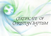 Baptism Certificate Ecumenical Dove (pack of 20)