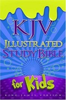 KJV Illustrated Study Bible For Kids, Blue Leathertouch (Imitation Leather)