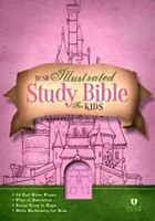 HCSB Illustrated Study Bible For Kids, Pink Leathertouch (Imitation Leather)