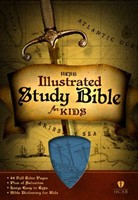 HCSB Illustrated Study Bible For Kids, Blue Leathertouch (Imitation Leather)