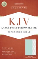 KJV Large Print Personal Size Reference Bible, Mint Green Le