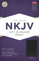 NKJV Gift & Award Bible, Black Imitation Leather