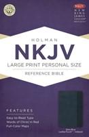 NKJV Large Print Personal Size Index Ref Bible, Slate Blue L