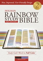 KJV Holman Rainbow Study Bible Brown/Lavender (Imitation Leather)