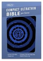 NKJV Compact Ultrathin Bible For Teens, Blue Vortex Leathert