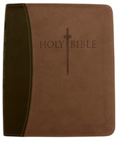 Kjver Sword Study Bible/Personal Size Large Print-Dark Brown (Imitation Leather)