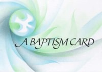 Baptismal Card Dove (pack of 20)