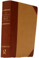 KJV Reformation Heritage Study Bible, Tan/Burgundy (Imitation Leather)