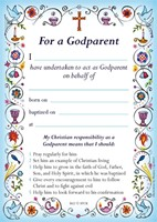 Godparent Card New Blue (pack of 40)
