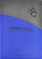 NIV Fire Bible Student Edition, Gray/Blue (Imitation Leather)