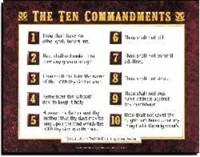 Ten Commandments Av        20X26 (Wall Chart)