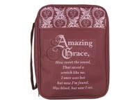 Bible Cover Amazing Grace Canvas Medium