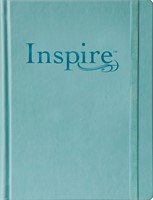 NLT Inspire Bible Large Print, Tranquil Blue