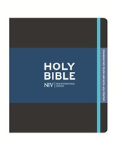 NIV Black Journalling Bible With Unlined Margins (Hard Cover)