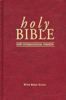 NIV Popular Bible with Guide Red
