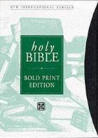 NIV Bold Print Reference Bible Black (Leather Binding)