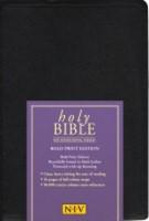 NIV Bold Print Reference Bible (Leather Binding)