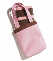 NIV Trimline Bible in a Bag Pink/Chocolate