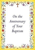 Anniversary of Baptism Card (pack of 10)