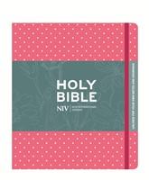 NIV Pink Polka Dot Journaling Bible With Unlined Margins (Hard Cover)