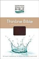 CEB Thinline Bible, Bonded EcoLeather, Burgundy